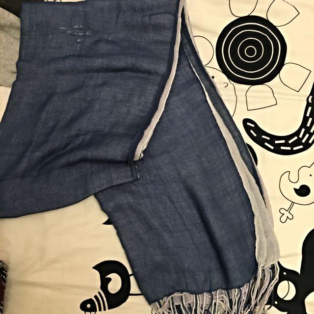 藍白造型圍巾