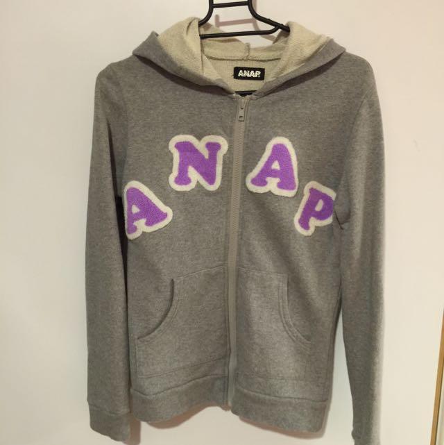 日本購入 二手 ANAP 連帽外套 灰 s