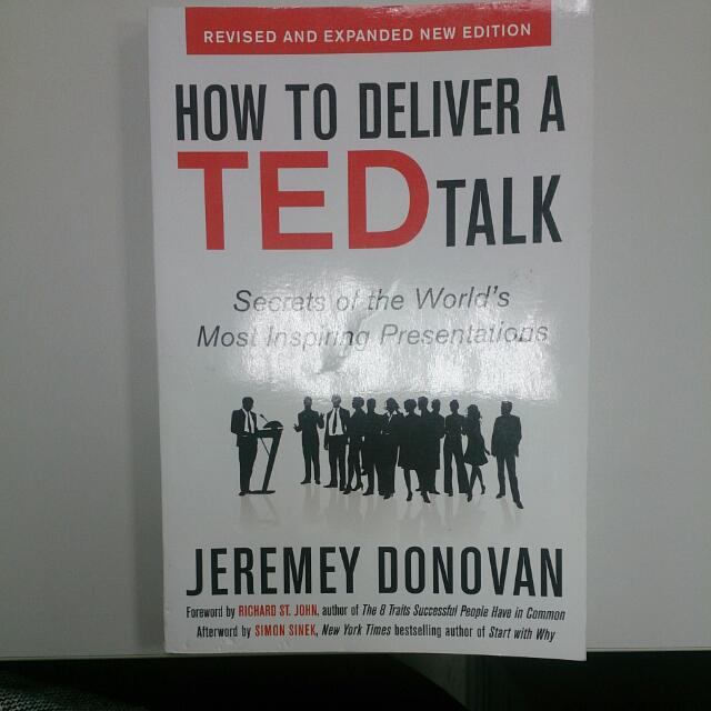 原文書 How To Deliver A TED Talk