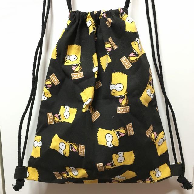 offer  Bart Simpson Drawstring Backpack c74e9357d5848