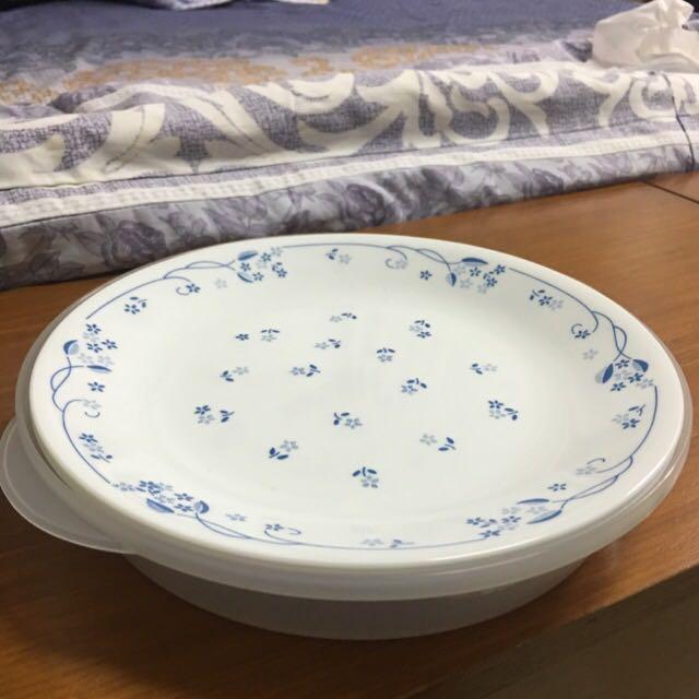 CORELLE 康寧 盤子 古典藍