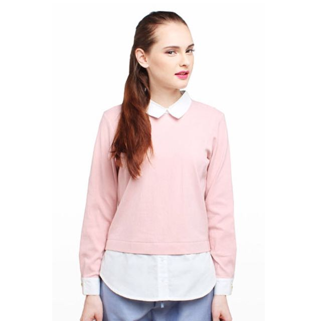 Cotton Ink Shirt: Pink Tiffany