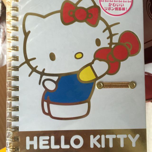 Hello Kitty線圈筆記本-日本製