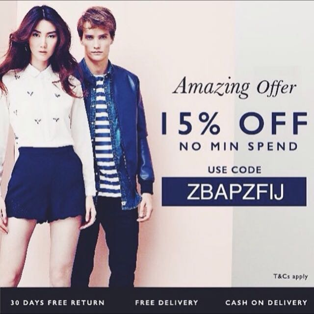 Malaysia Zalora Promo Code 15 Off Tickets Vouchers On Carousell
