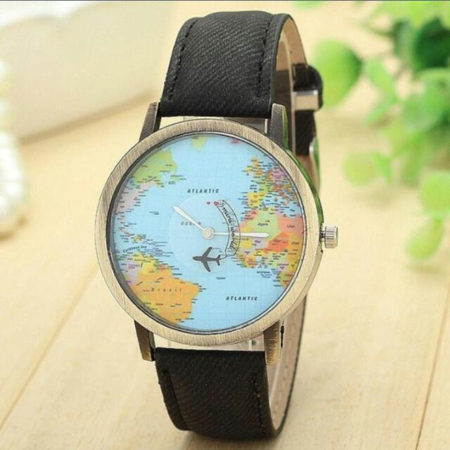 Preorder unisex wrist watch world map face womens fashion on photo photo photo photo photo gumiabroncs Images