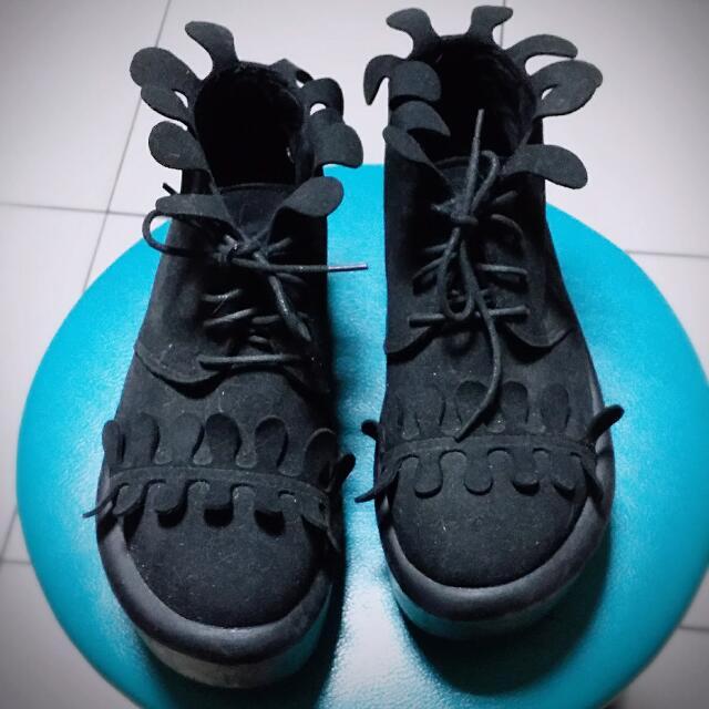 Tokyo bopper類似款 花瓣厚底鞋