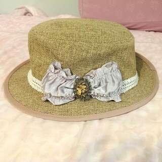 (全新)日本亞麻編織復古帽