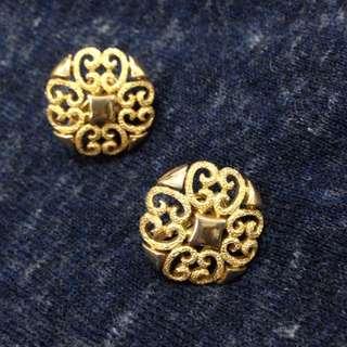 古董飾品Avon夾式耳環