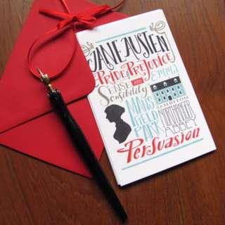Jane Austen Bibliography cards