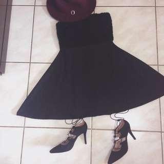 平口 黑洋裝 含運
