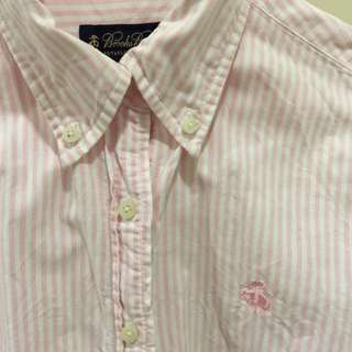 粉白直條紋襯衫