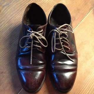二手義大利製手工皮鞋 40號 25.5cm