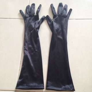 Black Satin Glove