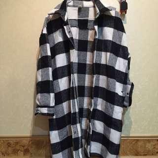 韓版格紋外套