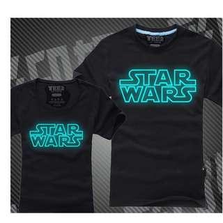 Clearance SALE! Star Wars! Glow In The Dark/Reflection Tee: Men & Women 100% Cotton