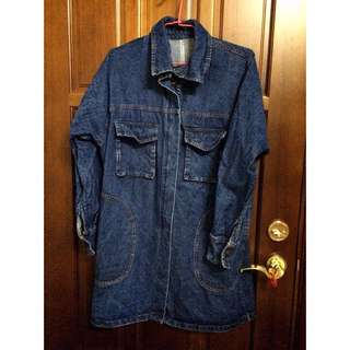【保留中】重磅數 Oversize牛仔大衣外套