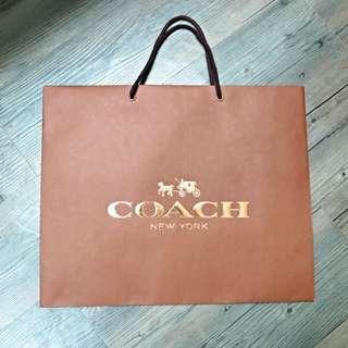 降價🌟全新 專櫃正品 Coach 紙袋