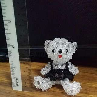 Handmade Beaded Bear Bag Charm / Keychain