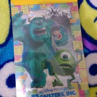 迪士尼 怪獸電力公司 便條紙