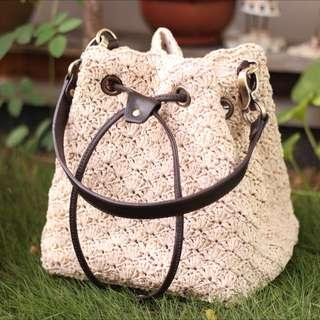 Crochet Bucket Bag (beige)