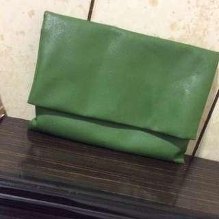 復古墨綠手拿包