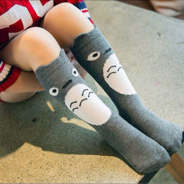 ⬇️出清價50元,可愛兒童龍貓中筒襪