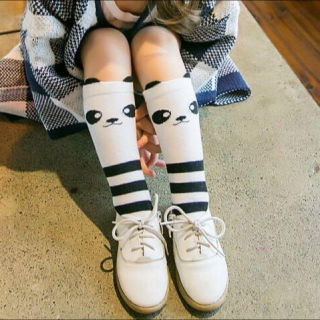 ⬇️出清價50元,可愛圓仔熊貓兒童中筒襪