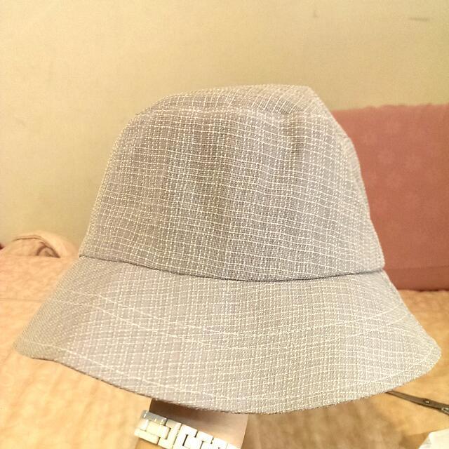 舒適漁夫帽(灰格文)