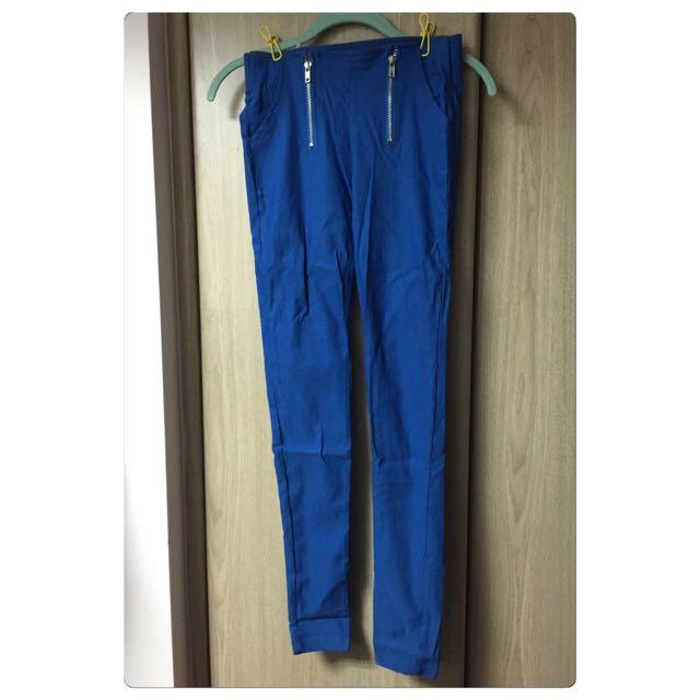 ✨藍色雙拉鍊內搭褲✨