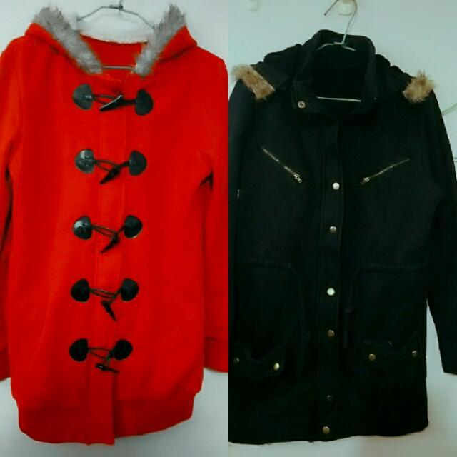 兩件長版外套