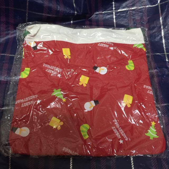 繽紛聖誕束口袋