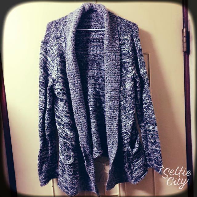 9.9🆕雙口袋後針織外套🤗