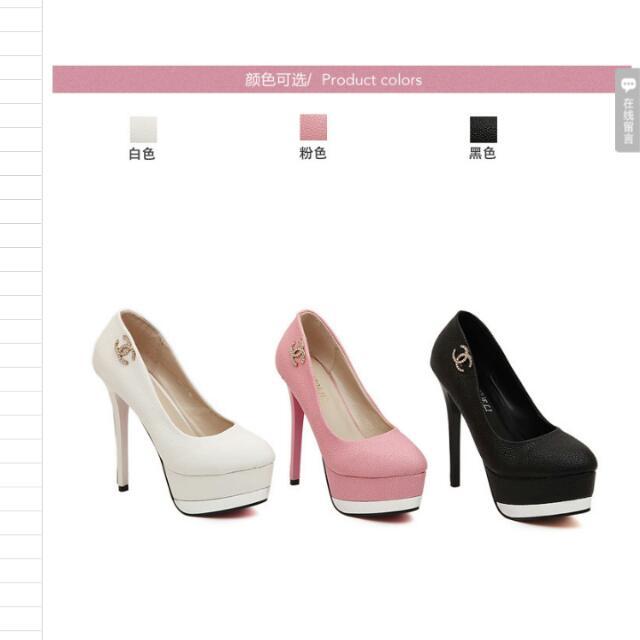 ✔(23.5)現貨1 白色高跟鞋👠