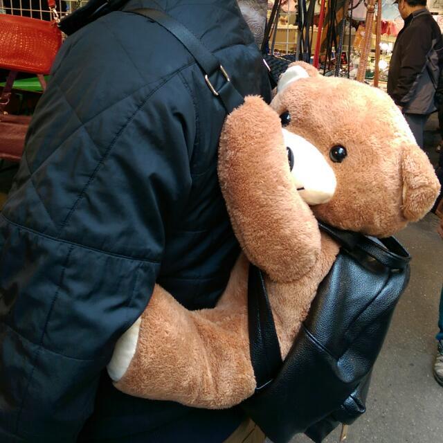 [實拍] 美國 韓國 爆炸可愛  小熊抱抱後背包