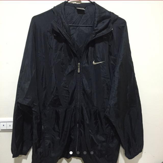 古著 復古 Nike 防風 外套 黑白 風衣 正版