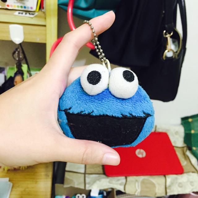芝麻街 Cookie Monster吊飾