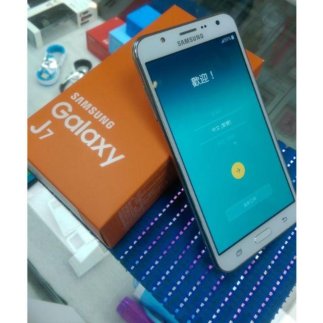 嚴選二手中古機 SAMSUNG Galaxy J7 白色 保固到2016 11月