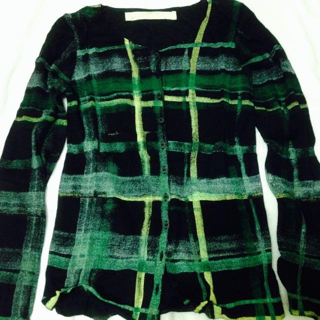 a la sha 黑色/潑墨系列針織外套