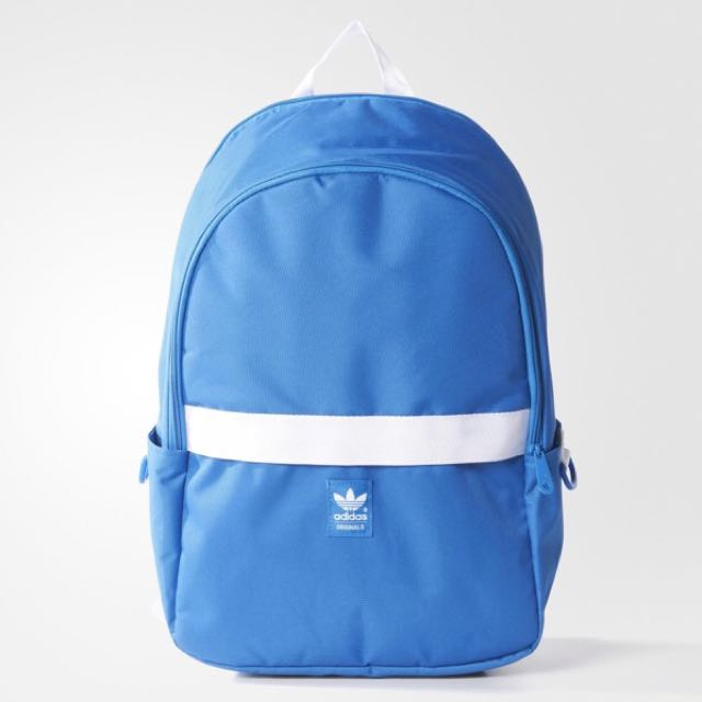 652127967e ADIDAS ORIGINALS ESSENTIALS BACKPACK IN BLUE AND WHITE