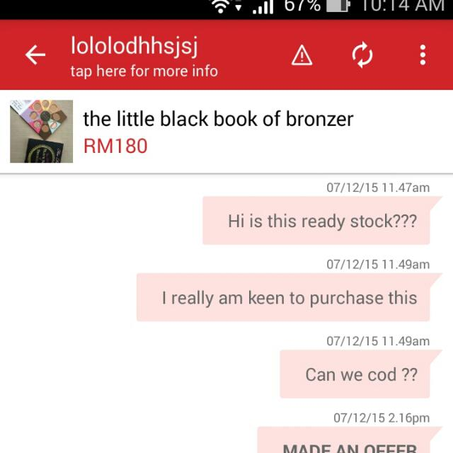 BEWARE Of This So Called Seller.