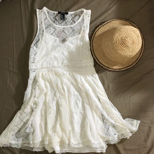 歐美品牌Forever 21蕾絲兩件式連衣裙洋裝