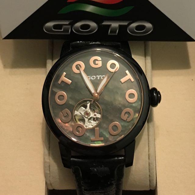 GOTO珍珠貝殼面機械腕錶機械錶