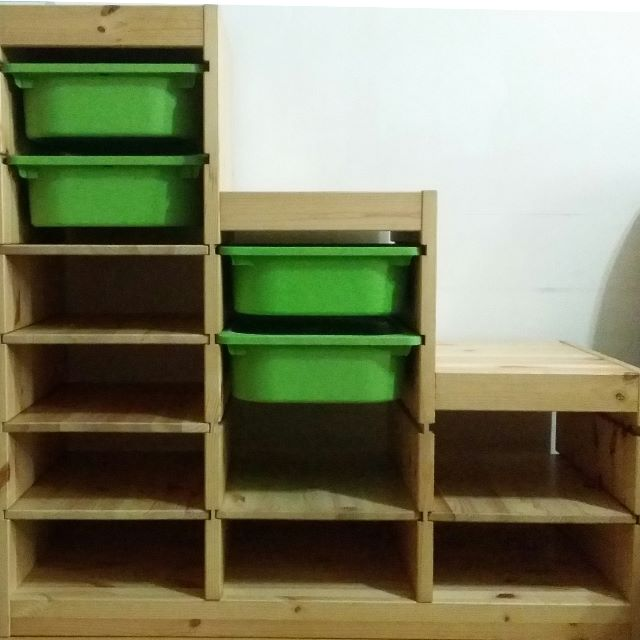 Moving Out Sale] Ikea Trofast with shelving units and storage boxes ...