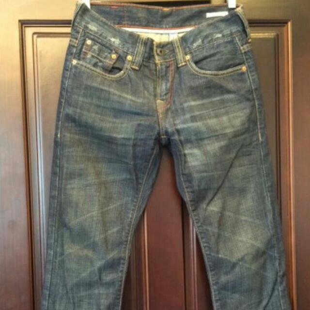 🙌全新Levi'sPReMIUM PR522-0011低腰小直筒刷色牛仔褲👖