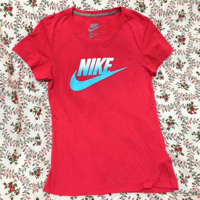 粉紅色NIKE T恤 M號✔️