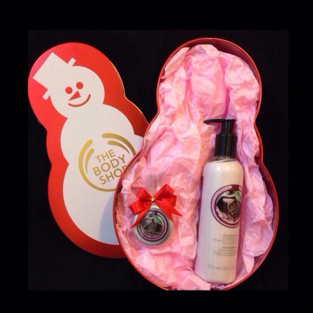 💄聖誕禮盒組  The Body Shop (紫梅身體亮膚乳+紫梅護唇霜)