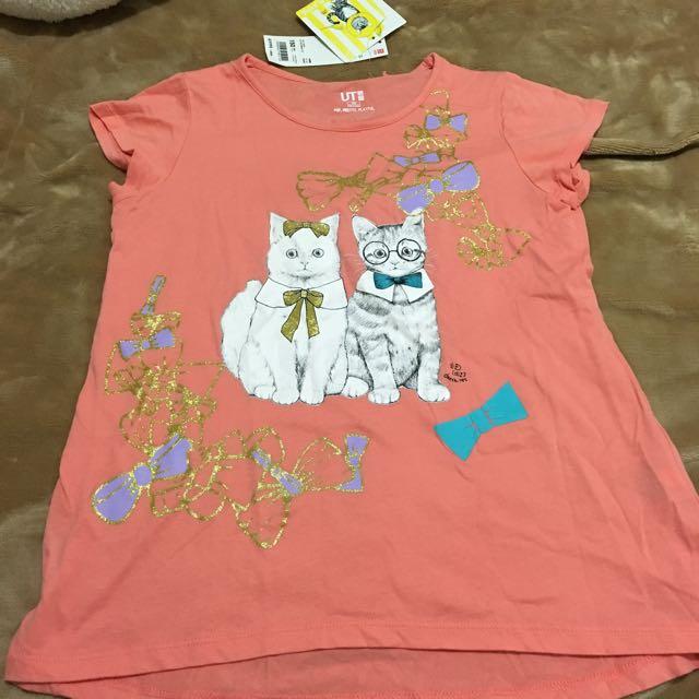 UNIQLO全新貓咪T-shirt