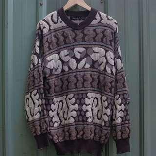 🚚 vintage  北歐立體編織紋古著毛衣 sw-17