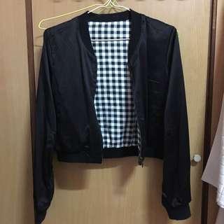 (二手)Pazzo短版個性雙面可穿夾克外套