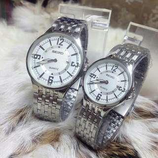 Couple Seiko 212 Watch / Full Silver